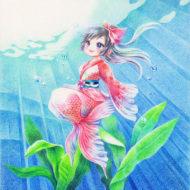 【イラスト】金魚ドレス